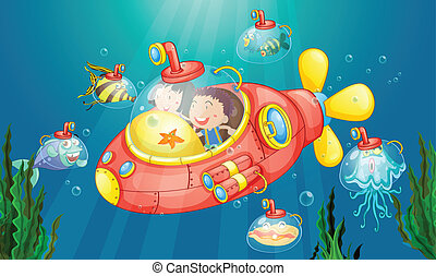 submarino, aventura