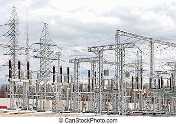 substation, poder elétrico