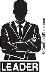 (successful, businessman), líder