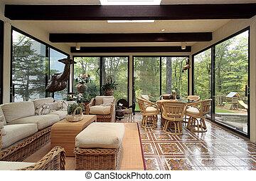 sunroom, patterned, azulejo