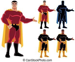 superhero, apresentando