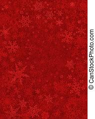 sutil, neve, fundo, vermelho