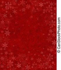 sutil, neve, vermelho
