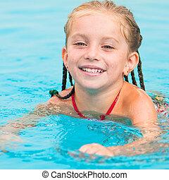 swimming..., menininha, bonito