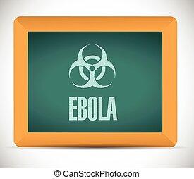 tábua, sinal, ilustração, ebola