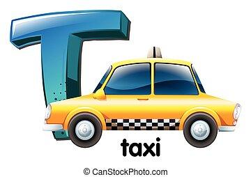 táxi, t, letra