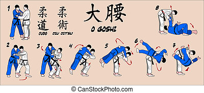 técnica, judo