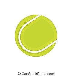 tênis, bola branca, isolado, fundo