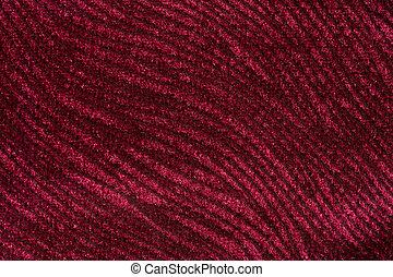 têxtil, experiência., luxuriante, vermelho