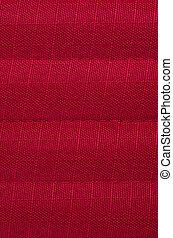 têxtil, experiência vermelha