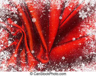 têxtil, experiência., vermelho
