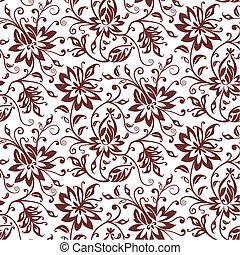 têxtil, floral, vetorial, fundo