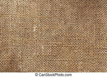 têxtil, marrom, saco, textura