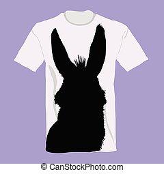 t-shirt, burro, vetorial, aquilo, ilustração