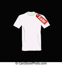 t-shirt, cor, vetorial, venda
