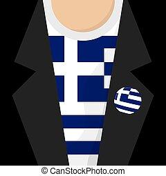 t-shirt, vetorial, ilustração, grécia
