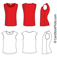 t-shirt, vetorial, ilustração
