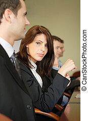 tabela conferência, grupo, pessoas negócio