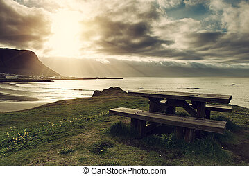 tabela, piquenique, islândia