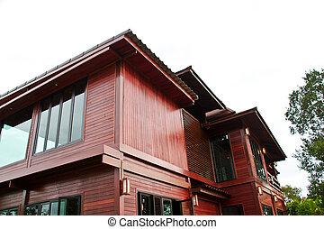 tailandês, lar, madeira