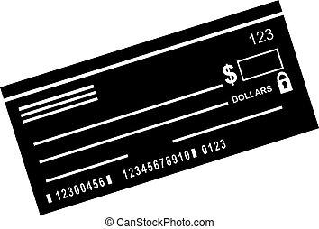 talao cheque, ícone
