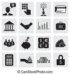 também, riqueza, poupar, icons(signs), criação, banco, negócio, finanças, investimentos, vetorial, &, graphic., relatado, lata, money(cash), dinheiro, wealth-, cartões poupança, ilustração, conta, represente, este, operação bancária