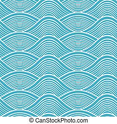 tamborile, seamless, oceânicos, japoneses, onda