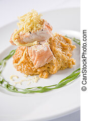 tandoori, salmão, estilo