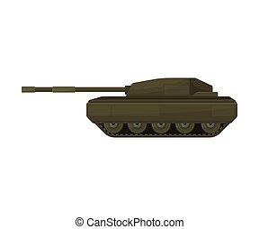 tank., ilustração, experiência., vetorial, branca, khakki-colored