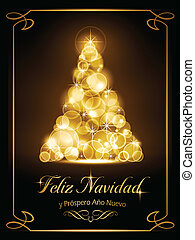 tarjeta, cartão, natal, navide?a