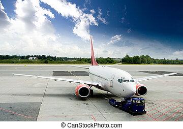 tarmac, avião
