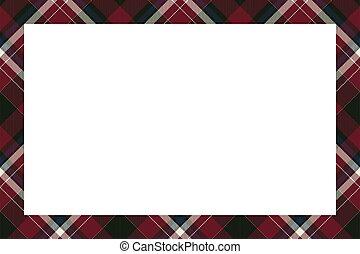 tartan, vindima, borda, ornament., quadro, escocês, vector., padrão, retro, style., xadrez