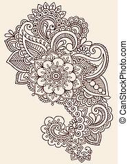 tatuagem, henna, desenho, mehndi, doodle