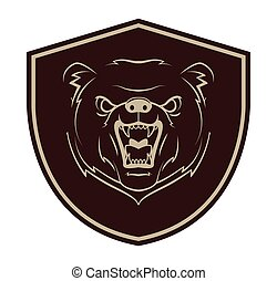 tatuagem, urso, mascote