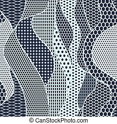 tecido azul, padrão, seamless, vetorial, renda