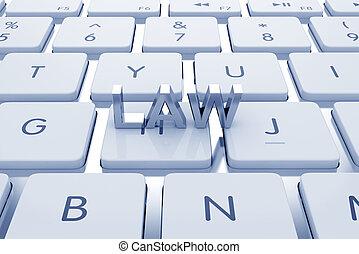 teclado, computado, lei, texto