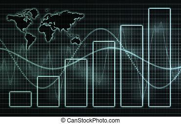 tecnologia, negócio incorporado, mundo