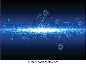 tecnologia, rede, fundo, digital