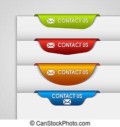 teia, cor, contato, bookmark, borda, etiqueta, página