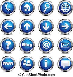 teia, jogo, &, -, local, um, ícone internet