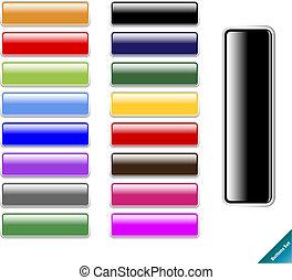 teia, tamanho, multi coloriu, lustroso, 2.0, aqua, editar, style., internet, qualquer, buttons., cobrança, fácil