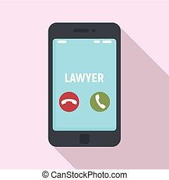 telefone, estilo, apartamento, ícone, advogado, chamada