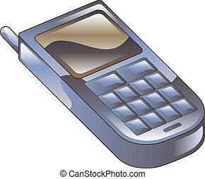 telefone móvel, clipart, ícone