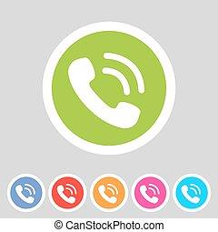 telefone, telefone, apartamento, ícone
