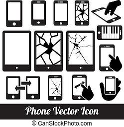 telefone, toque, comunicação, vetorial