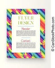template/poster, vetorial, desenho, coloridos