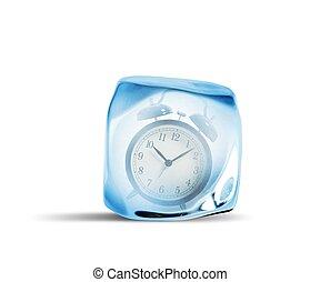 tempo, congelar, conceito
