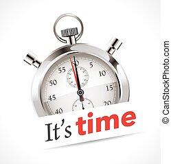 tempo, -, cronômetro, é