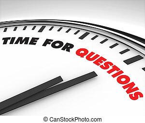 tempo, -, perguntas, relógio