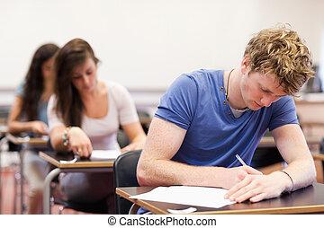 tendo, teste, estudantes